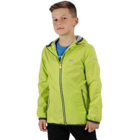 Regatta Lever II Jacket Kinder lime zest/seal grey